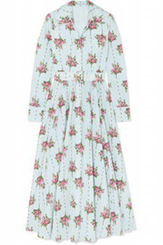 Emilia Wickstead Aurora Belted Floral-Print Dress