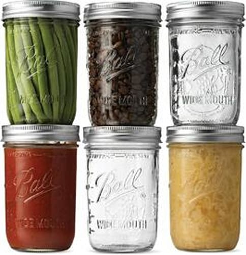 Wide-mouth Mason jars (6-pack)