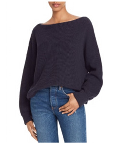 FRENCH CONNECTION, Millie Mozart Knits Cotton Boat Neck Sweater