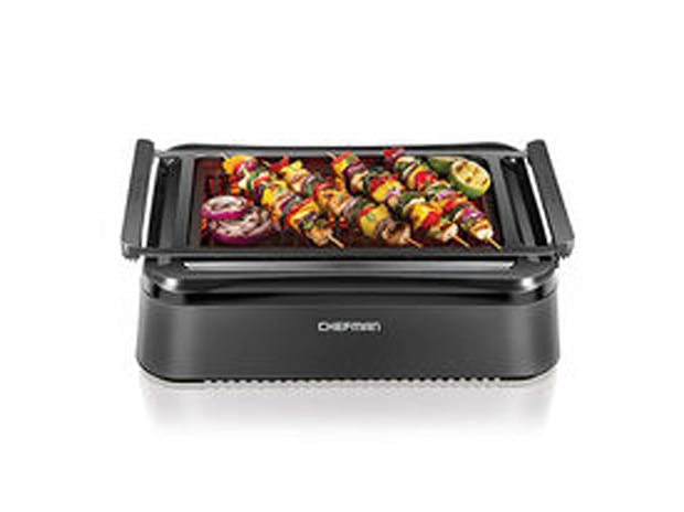Chefman Carbon Fiber Electric Smokeless Indoor Grill