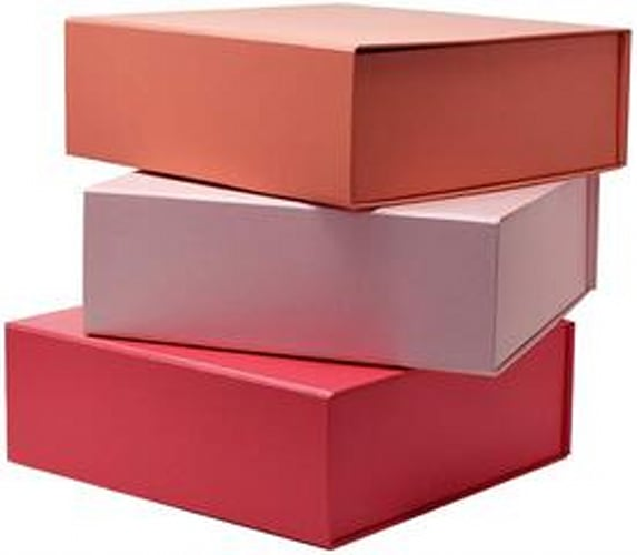 Sunday Favorites Decorative Pink Gift Boxes with Lid