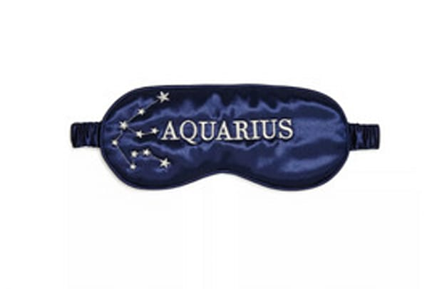 slip Zodiac Embroidered Silk Eye Mask