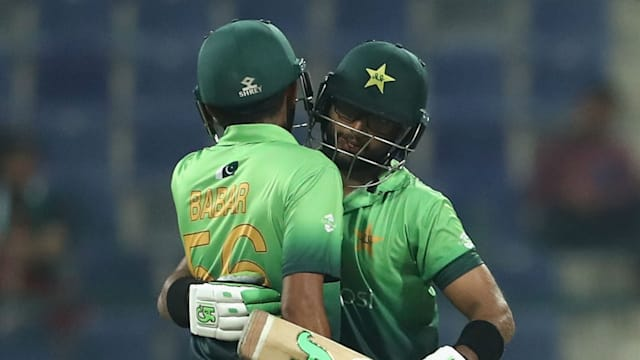 Image result for Imam-ul-Haq and Babar Azam