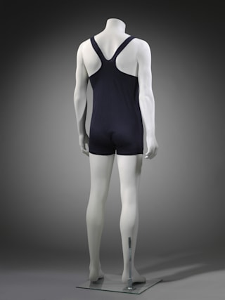 bc6b7e62c4 Revealing racerback swimsuit goes on show in new V&A museum - AOL