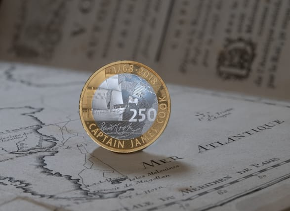Coins mark Captain Cook's 1768 voyage of discovery
