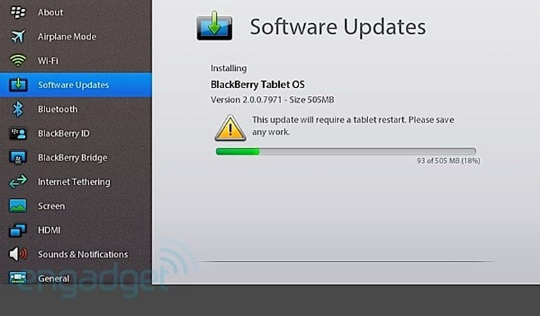 BlackBerry PlayBook OS 2.0 now ready for download