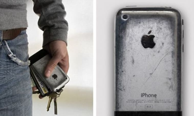 Admiring the beauty of an iPhone 'Aged to Perfection'