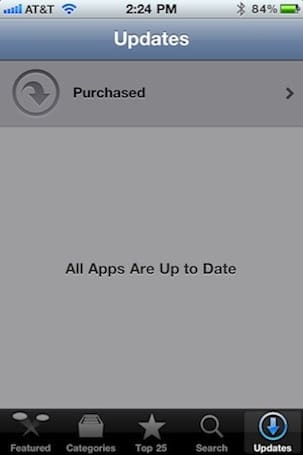 iOS iTunes, App Store apps silently updated to add Purchased button (Updated)