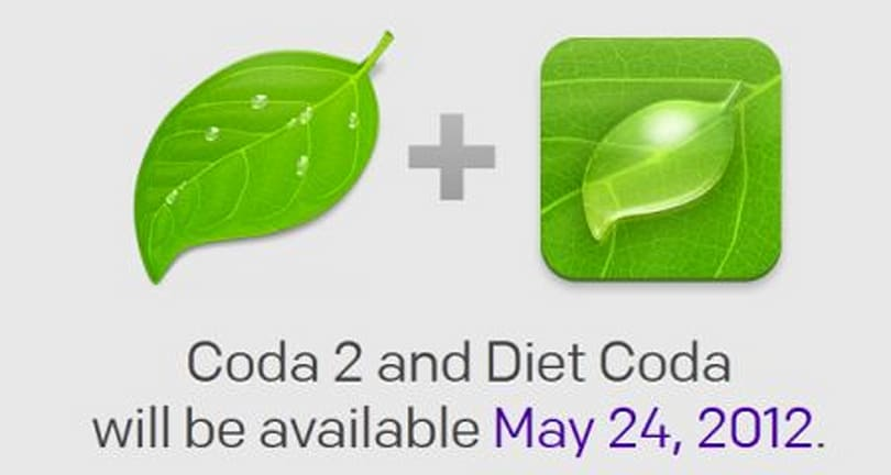 Coda 2 for Mac, Diet Coda for iPad available May 24