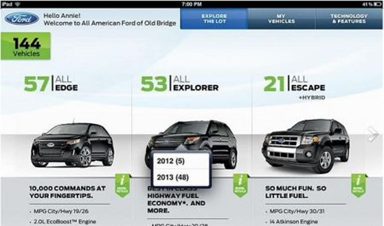 Ford trying iPads for sales consultants at dealerships