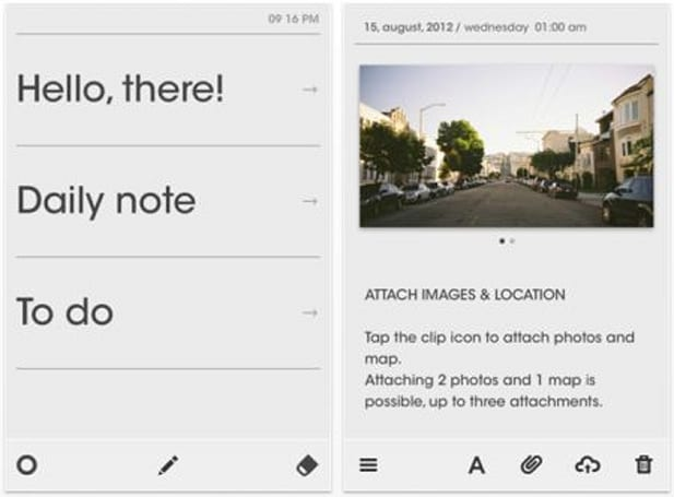 Daily iPhone App: Note.S is a simple and impressive daily journal