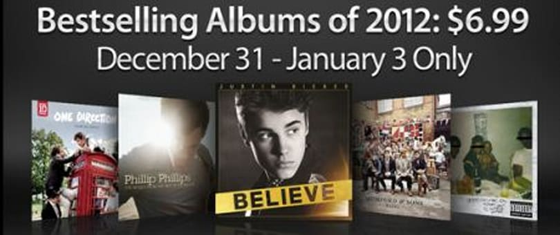 iTunes offering a big $6.99 sale on some music bestsellers