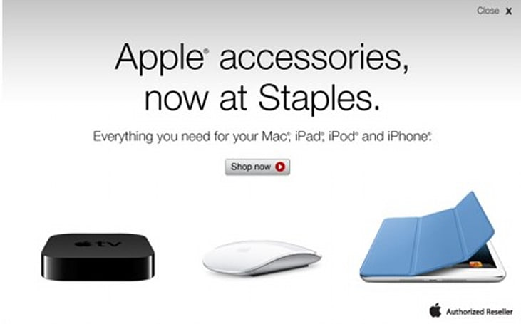 Staples now selling accessories for the iPad, iPhone, iPod and Mac