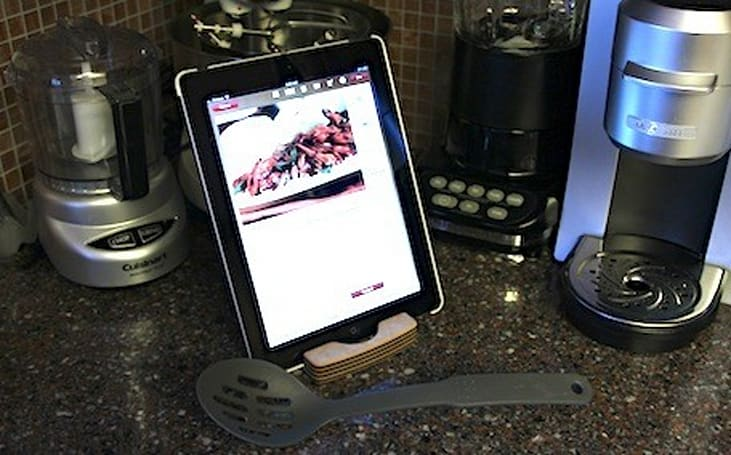 Chef Sleeve Dishwasher Safe iPad Stand a welcome addition to the kitchen