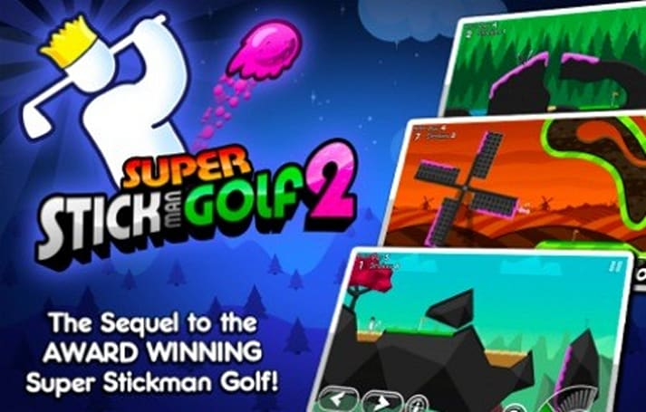 Daily iPhone App: Super Stickman Golf 2 updates a modern classic