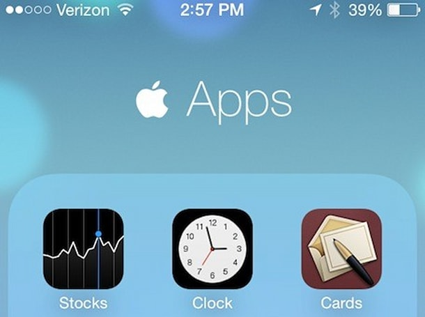 iOS 7 Clock app icon shows the current time... to the second