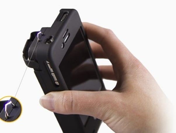 iPhone case with built-in stun gun protects both you and your phone