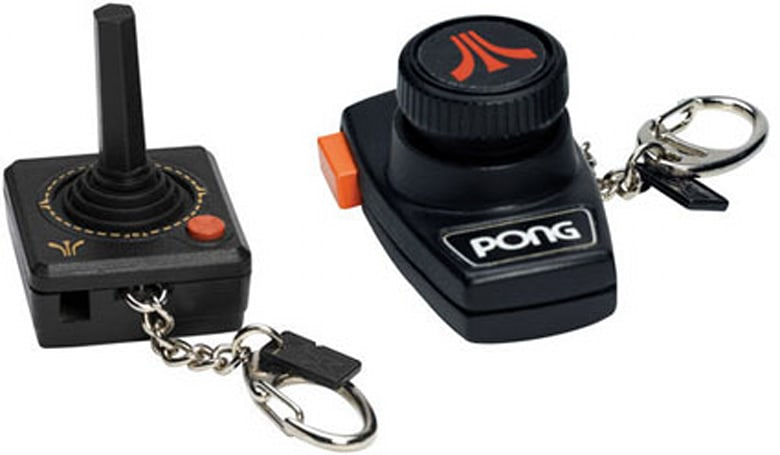 """Atari controller """"keychains"""" -- with games"""