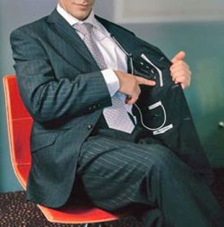 The iPod suit, for slacking off at work