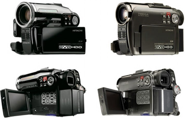 Two more Hitachi hybrid DVD / HDD camcorders: DZ-HS301, DZ-HS303