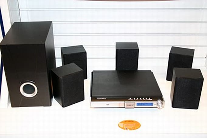 Audiovox shows off DV7600XM XM Mini-Tuner home theater system