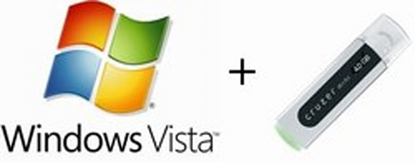 User installs Windows Vista from USB flash drive