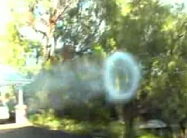 Inventor builds goliath smoke ring generator