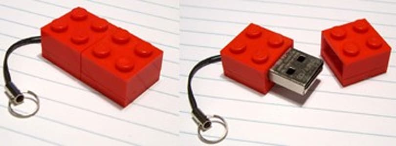 Zip Zip offers up USB flash drives within Lego blocks