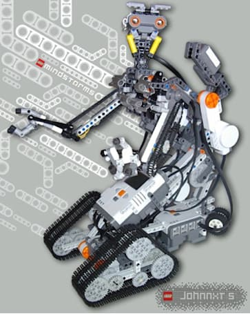 LEGO Johnny Five is (kinda) alive; needs input