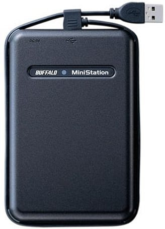 Buffalo announces 320GB portable hard drive