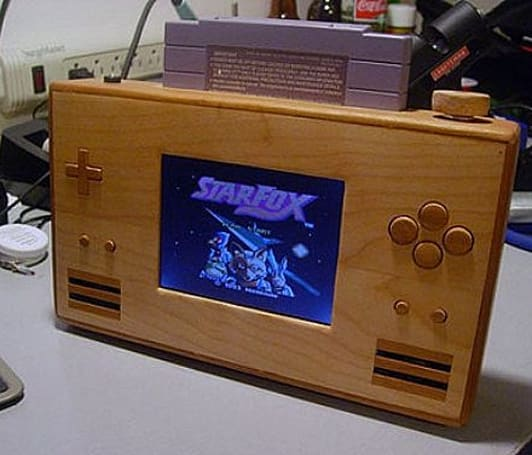 Wooden SNES portable is the greatest thing ever devised by man