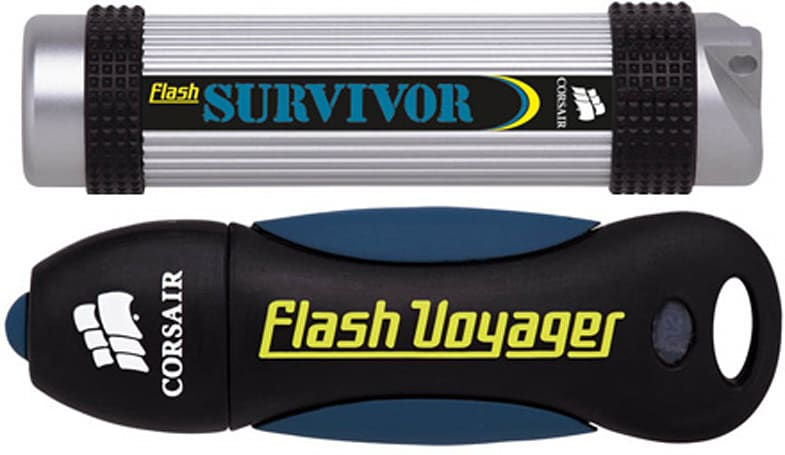Corsair announces 32GB Flash Voyager / Flash Survivor drives