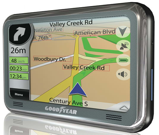 Eight Goodyear-branded GPS units to be released at CES