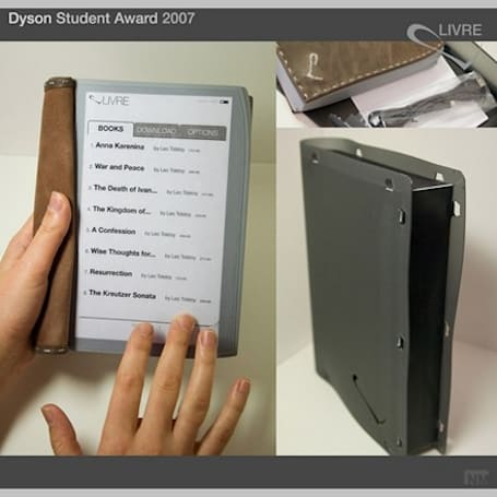 E-book concept combines leather and multi-touch