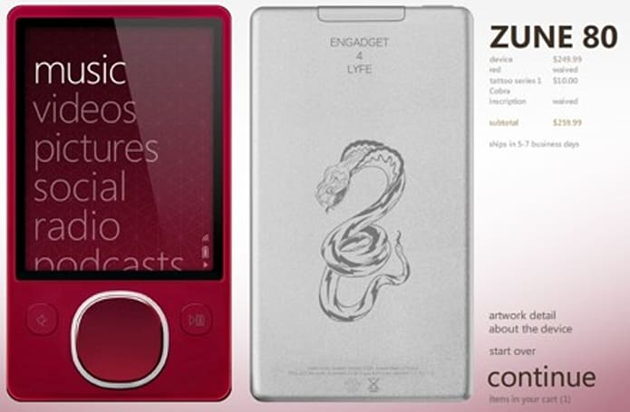 Red Zune 80 now available... but only with Zune Originals engraving