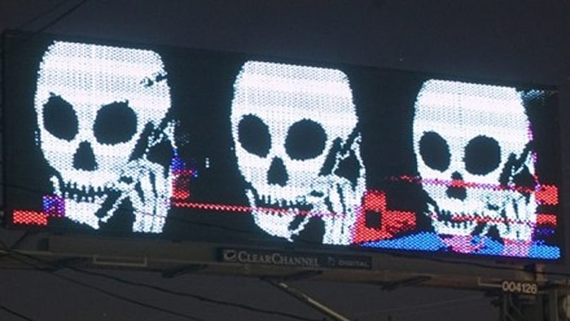 Skullphone's Clear Channel billboards not hax0r3d, actually pa1d for