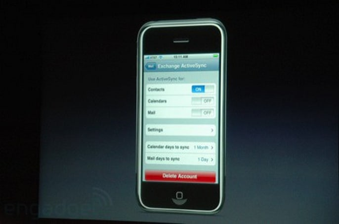 iPhone gets ActiveSync support for Exchange