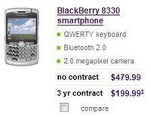 Telus getting BlackBerry Curve, Samsung U740?