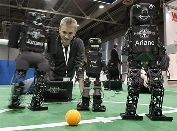 Robotic soccer players seek to challenge humans by 2050