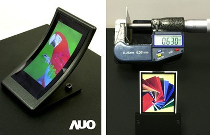 AUO unveils curved, slim and an 8-inch multi-touch display