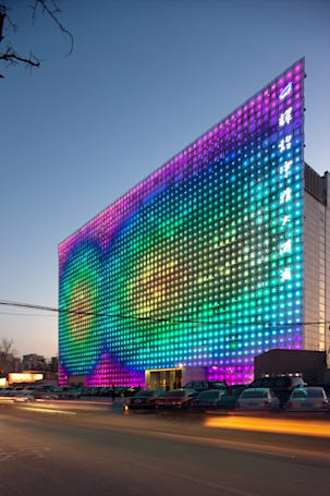 GreenPix creates massive, self-sustaining LED display in China