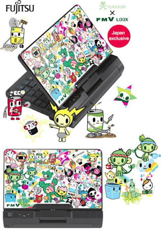 Fujitsu U2010 comes to Japan as the LOOX U / B50N, all tokidoki'd up
