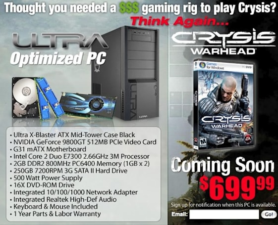 EA's Crysis Warhead PC can, uh, play Crysis