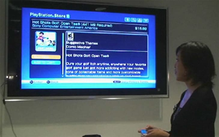 Video: PSP surfs over to PlayStation Store via firmware 5.0