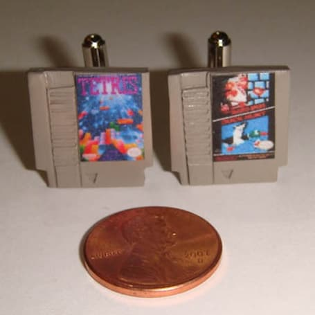 NES cartridge cufflinks help you keep your promise of celibacy