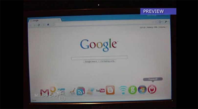 gOS Cloud instant-on OS shown on video