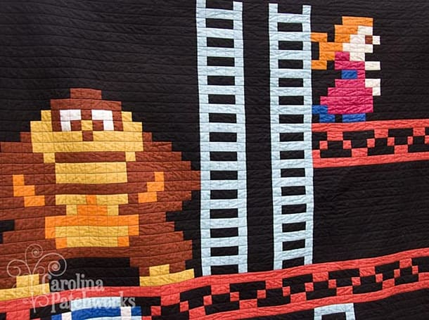 Donkey Kong quilt will keep your lonely self warm