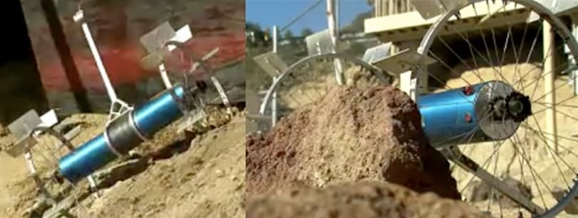 NASA unveils rock-climbing Axel Rover, slashes dirt without getting dizzy