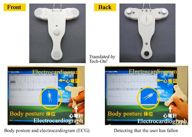 Wearable ECG uses patient's posture for encryption, transmits data over Body Area Network