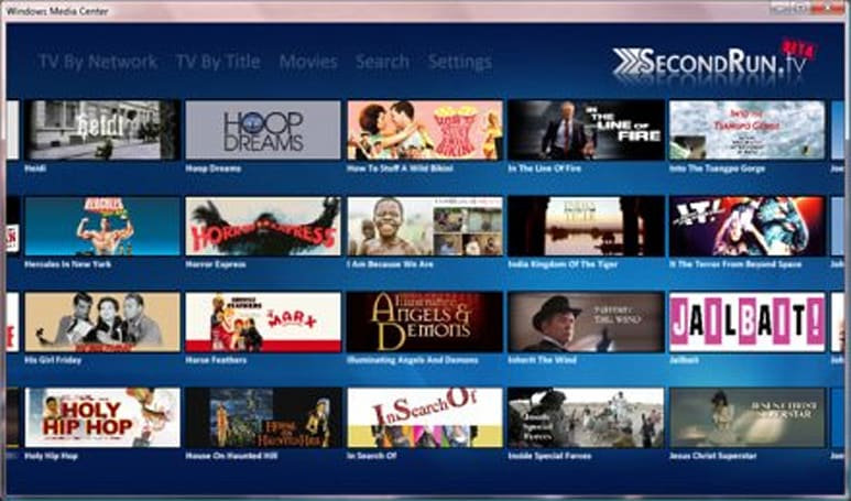 SecondRun.tv updated with direct play Media Center Extender support